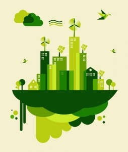 Clipart of a green city